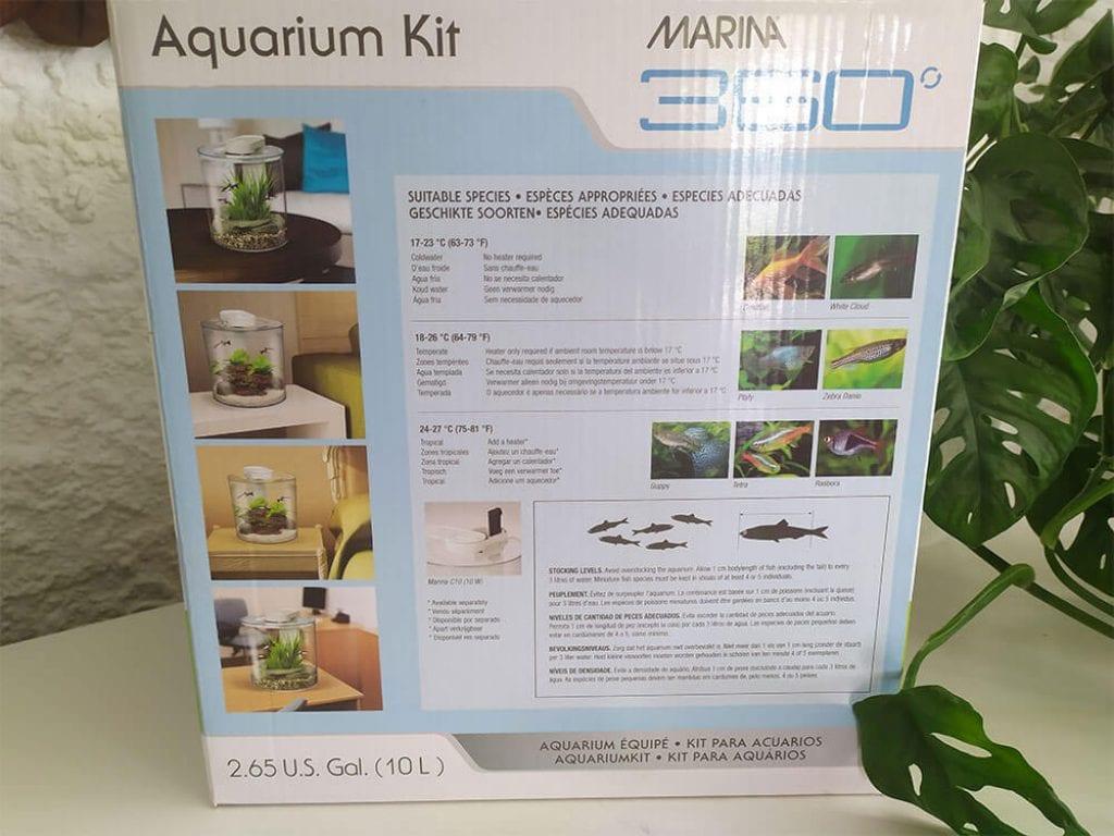 """Emballage du Marina 360 - """"espèces appropriées"""""""