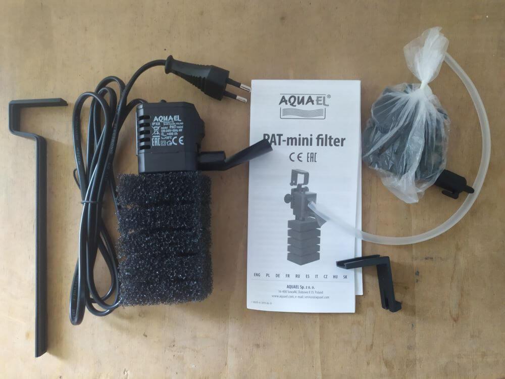 Aquael pat minifilter : le filtre idéal